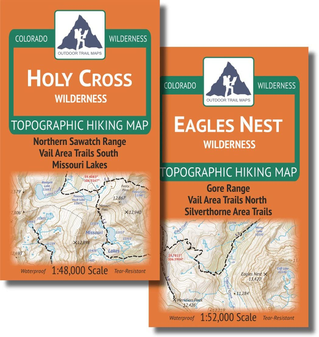 1946906360 Vail Area Hiking Map Pack: Eagles Nest and Holy Cross Wilderness Topographic Maps 71YGUhDQAdL