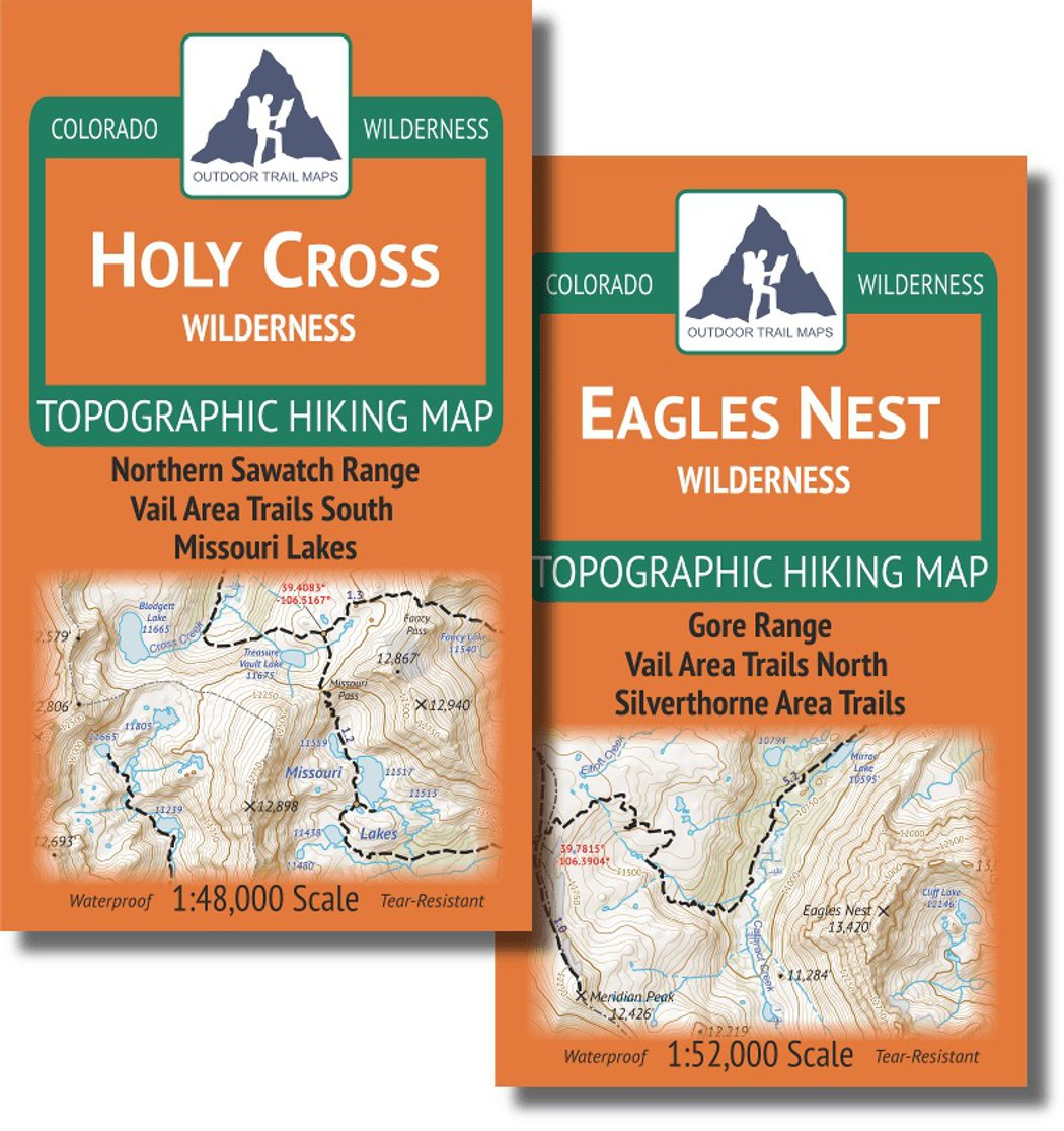 Amazon.com : Vail Area Hiking Map Pack: Eagles Nest and Holy Cross ...