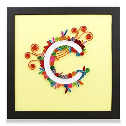Amazon.com: PaperTalk LETTER C 100% Handmade Paper-Quilling Artwork ...