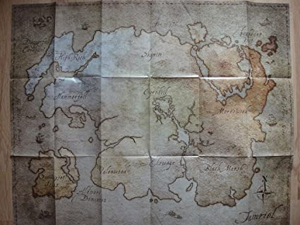 Amazon.com: Elder Scrolls Online Map of Tamriel (21\
