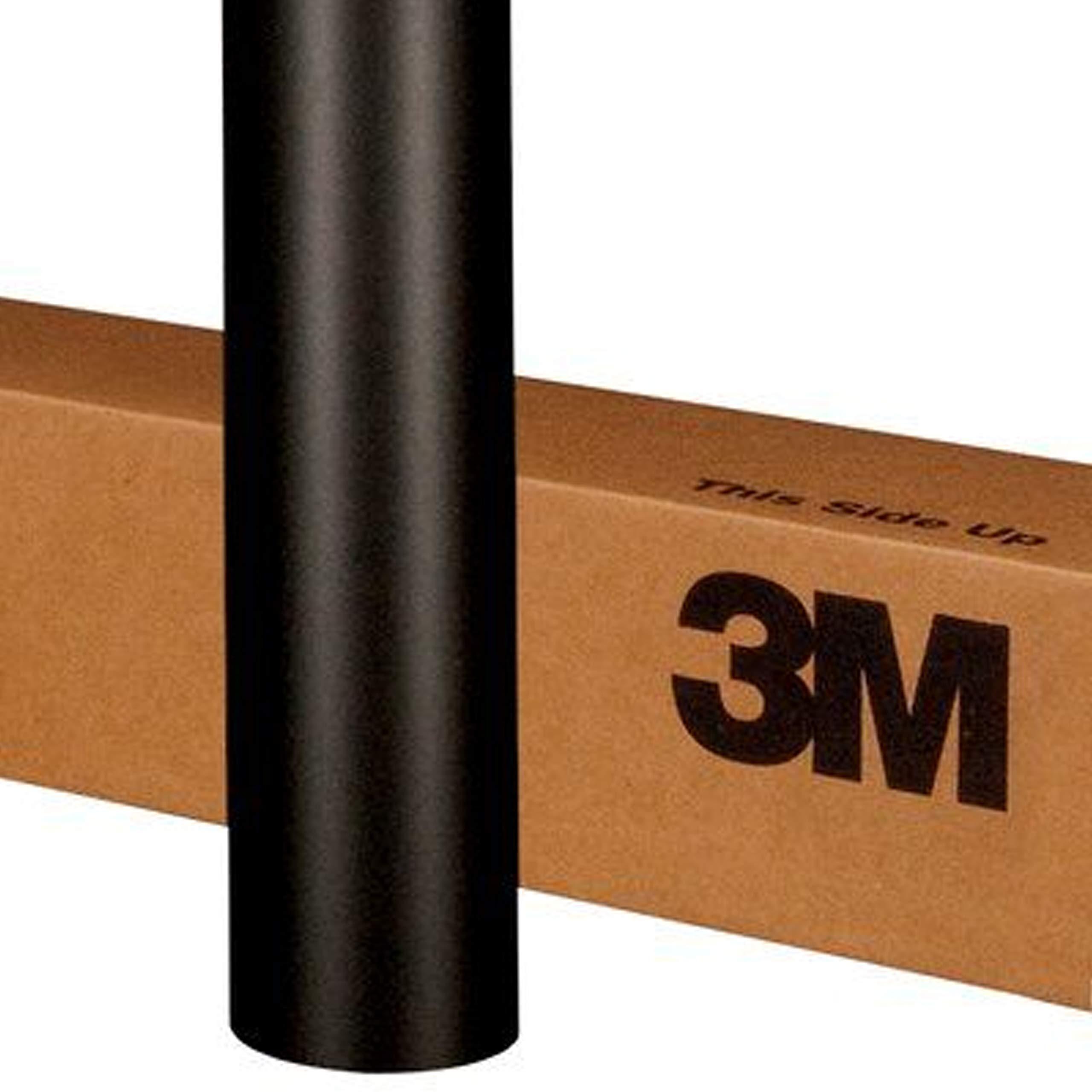 3M 1080 M12 MATTE BLACK 3in x 5in (SAMPLE SIZE) Car Wrap Vinyl Film by 3M (Image #1)