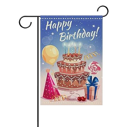 Amazon.com: Doble cara feliz cumpleaños globo de aire Big ...