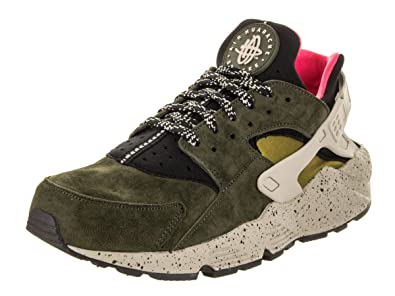 c5b4b2e7979b0 Nike Air Men s Huarache Run PRM Green Pale Grey 704830-010 (Size
