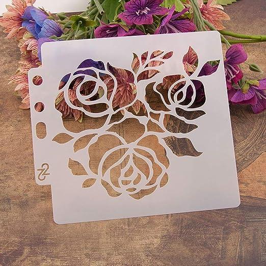 regalo de flores grabado en relieve pintura para /álbumes de recortes Yiwann Plantilla de bricolaje /álbum para manualidades