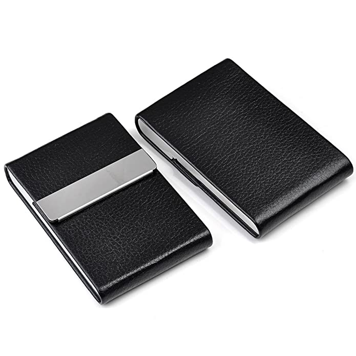 Personalized master free engraving custom business card holder name personalized master free engraving custom business card holder name card case pu leather stainless steel colourmoves
