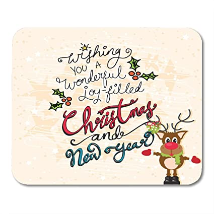 Amazon.com : Nakamela Mouse Pads Red Cute Christmas and New Year ...