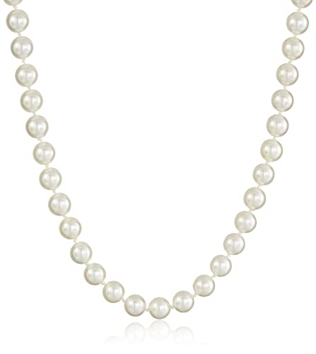 0a5b057d0f02a 14k Yellow Gold Saltwater Akoya Cultured Pearl AA Grade 7.5-8mm Necklace,  18