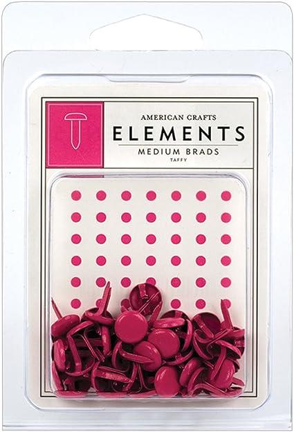 American Crafts Elements Medium Brads White