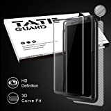 TATE GUARD VETTS8KIT Galaxy S8 Screen protector [Update Version Case Friendly Tempered Glass Screen protector] [Edge TO Edge Cover With Bubble Free + High Sensitivity Respond + Anti Scratched + Easy Kit]