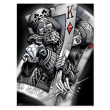 Og Abel Ogabel Mens Battle King 18x24 Poster Black Amazoncouk