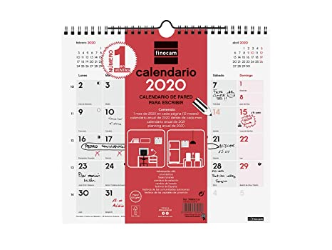 Amazon.com: Finocam - Calendario de pared 2020: Office Products