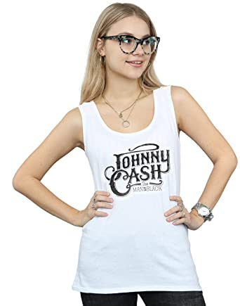 77a7c46d Amazon.com: Johnny Cash Women's The Man In Black Logo Tank Top: Clothing