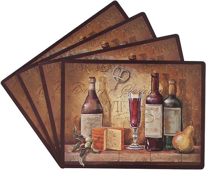 Benson Mills Bordeaux 100 Percent Cork Placemat Set Of 4 Amazon Ca Home Kitchen