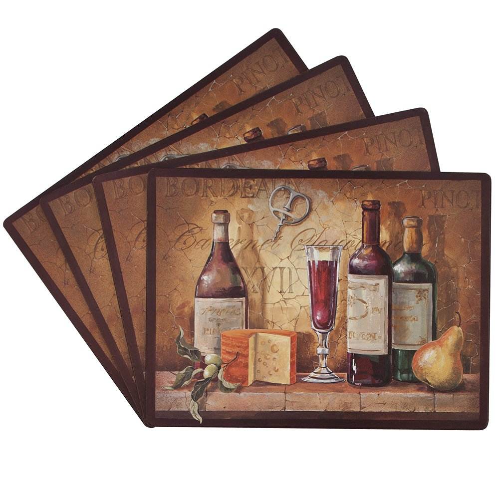 Benson Mills Bordeaux 100-Percent Cork Placemat, Set of 4