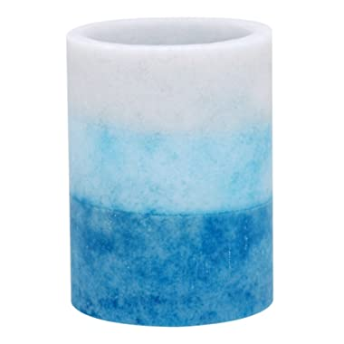 Kiera Grace Tri-Layer LED Pillar Candle with Timer, 3 by 4-Inch, Seaside Fragrance
