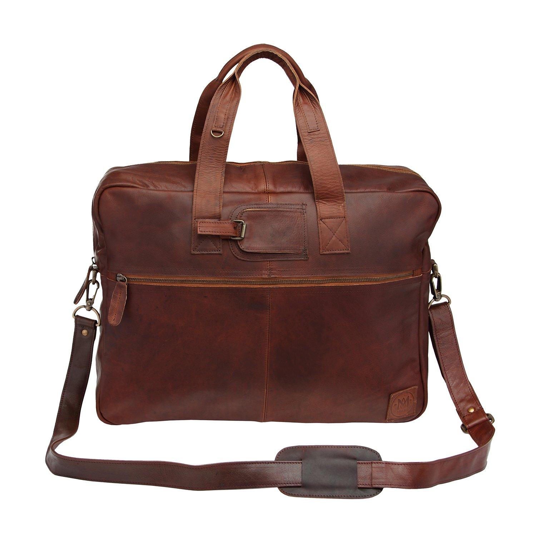 ビジネスバッグ ホールドオール ブラウンレザー 革 MAHI Leather   B00N95MM4U