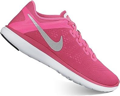 Nike - Zapatillas de running para niña Rosa Pink Blast/Metallic Silver Black/Hyper Pink: Amazon.es: Zapatos y complementos