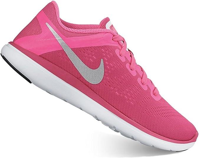 Nike - Zapatillas de running para niña Rosa Pink Blast/Metallic ...