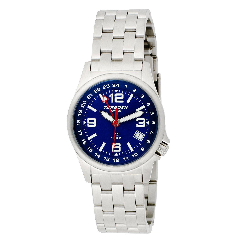 Torgeon Damen-Armbanduhr Analog Edelstahl blau T05602