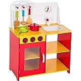 TecTake Cuisine en bois avec accessoires pour enfants jeu du rôle d'imitation chef set