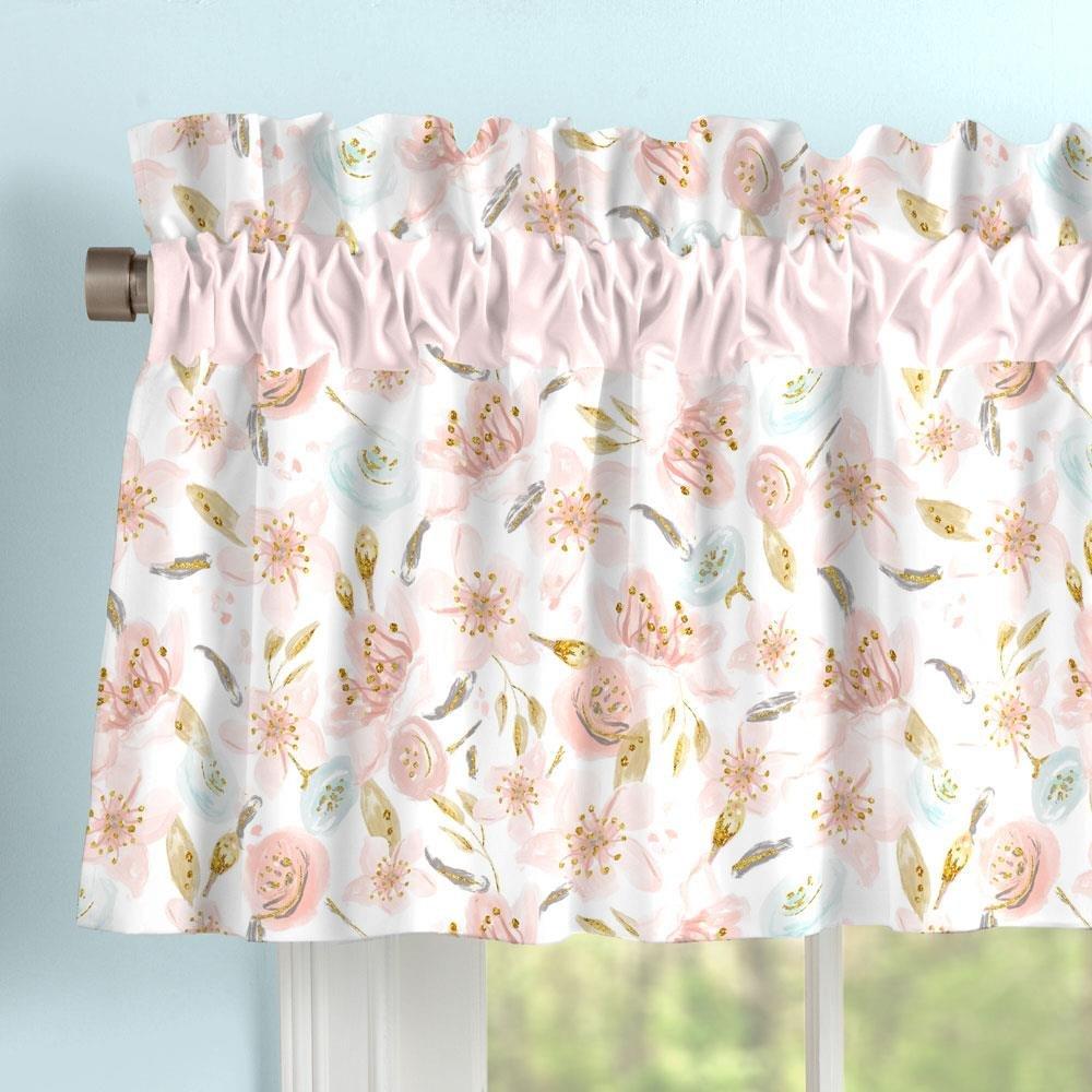 Carousel Designs Pink Hawaiian Floral Window Valance Rod Pocket by Carousel Designs
