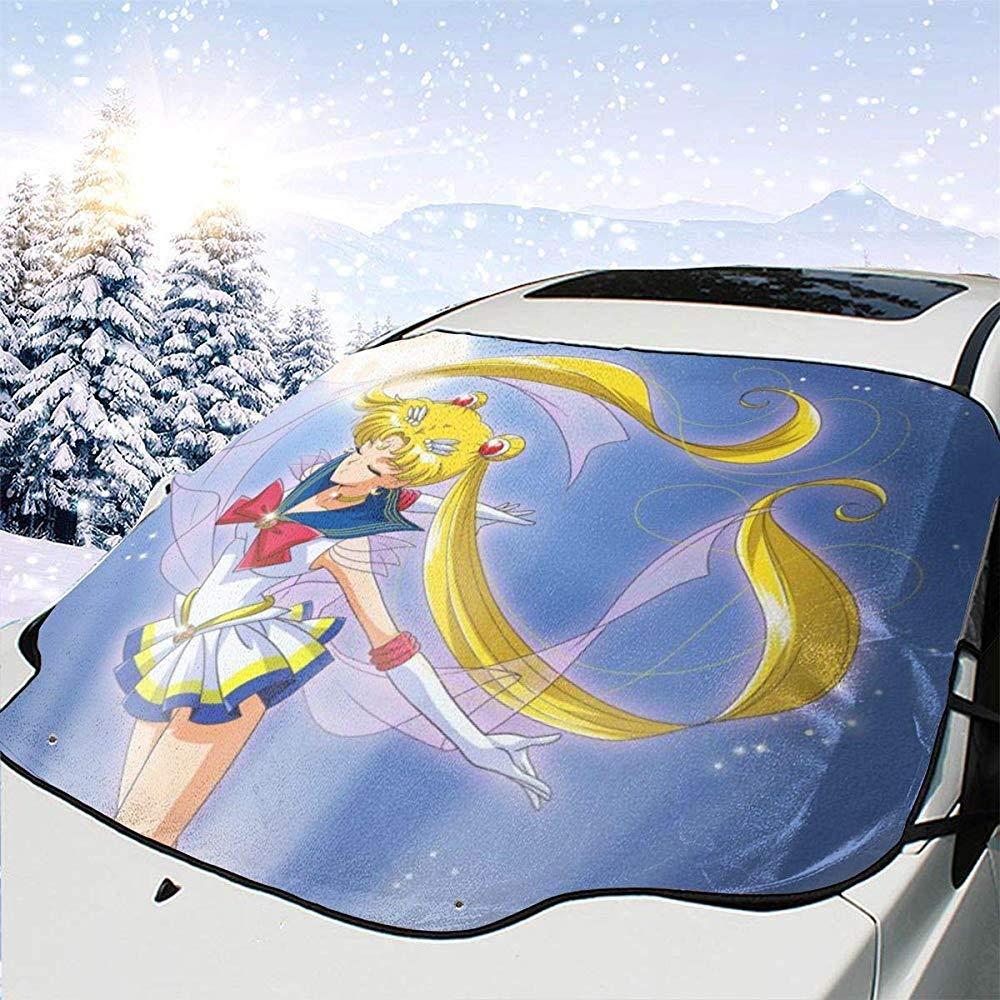 Sailor Moon Infinite Power Car Parabrezza Copertura da Neve Protezione antigelo Protezione Invernale Automotive Front Car Parabrezza Copertura da Ghiaccio da Neve Adatto per Auto SUV