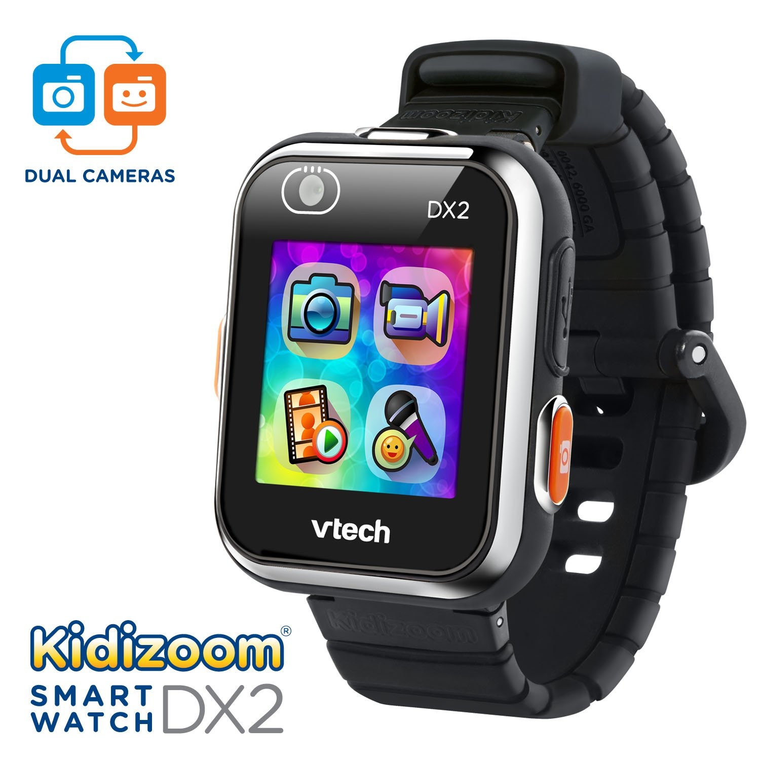 VTech Kidizoom Smartwatch DX2 Amazon Exclusive, Black