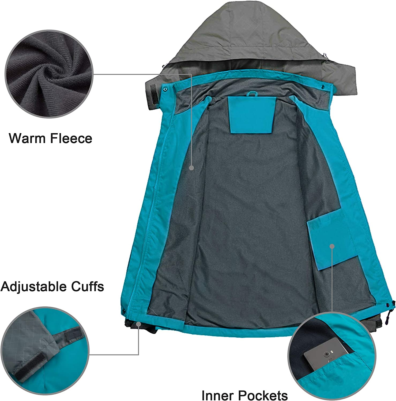 Diamond Candy Veste de pluie imperm/éable /à capuche l/ég/ère pour femme