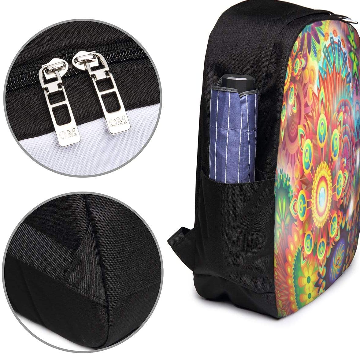 Yeaasan My Hero Academia 17 Inch Computer Bag for Women /& Men Black Travel Backpack School Bag with USB Interface