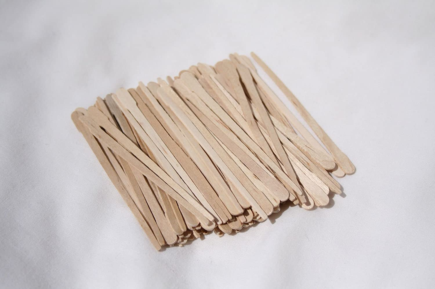 """300- Pieces EXTRA SMALL WAXING STICKS Wax Applicator Craft Sticks for Hair Removal Eyebrow Wood Spatulas Applicator, Size: 3-1/2"""" x ¼"""" Dukal Spa"""