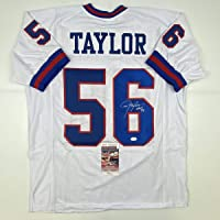 $149 » Autographed/Signed Lawrence Taylor HOF 99 New York White Football Jersey JSA COA