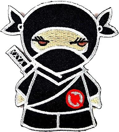 Amazon.com: Samurai Ninja Japón niña bordado hierro en ...