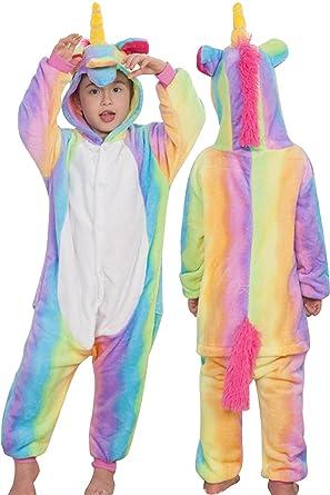 2b2896e53c Image Unavailable. Image not available for. Color  Animal Onesie Pajamas  Unicorn Kigurumi Cosplay Costume Cute Sleepwear ...