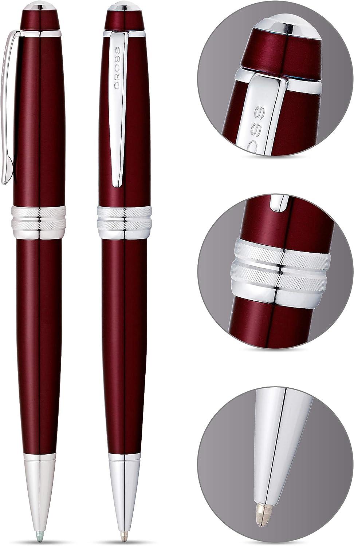 Cross Bailey Ballpoint Pen Red Lacquer Chrome Trim