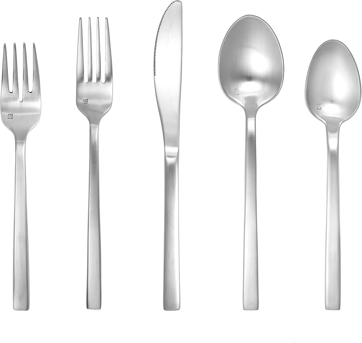 Fortessa Arezzo 18//10 Stainless Steel Flatware 7 Set of 12 Brushed Stainless Steel 7 1.5B.165.00.004 Coffee//Teaspoon