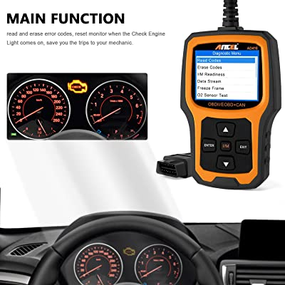 ANCEL AD410 is one of the best OBDII diagnostics that supports a lot of powerful functions.