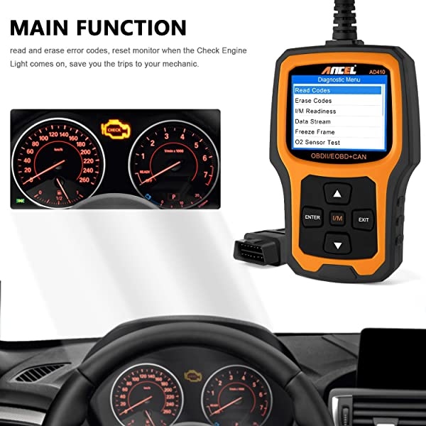 Ancel AD410 is an automotive code reader that is designed for beginners and ordinary car owners
