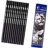 6b鉛筆三角硬筆ペイント鉛筆,12本入鉛筆6b