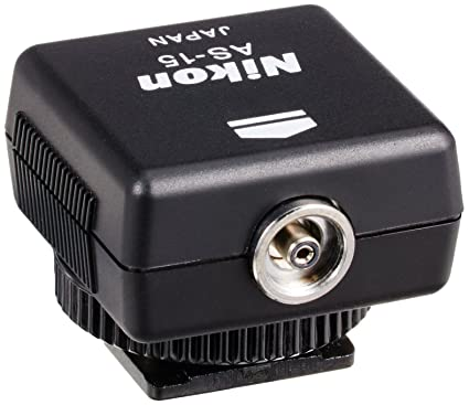 f41f81894c Amazon.com   Nikon AS-15 Sync Terminal Adapter Hot Shoe to PC AS15   On  Camera Shoe Mount Flashes   Camera   Photo