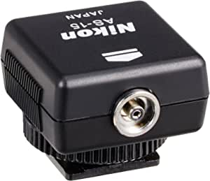 Nikon AS-15 PC Sync Adapter, Black