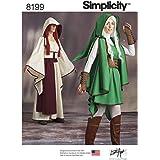 Simplicity 8199Patrons 'Jeu Warrior Costumes, Blanc
