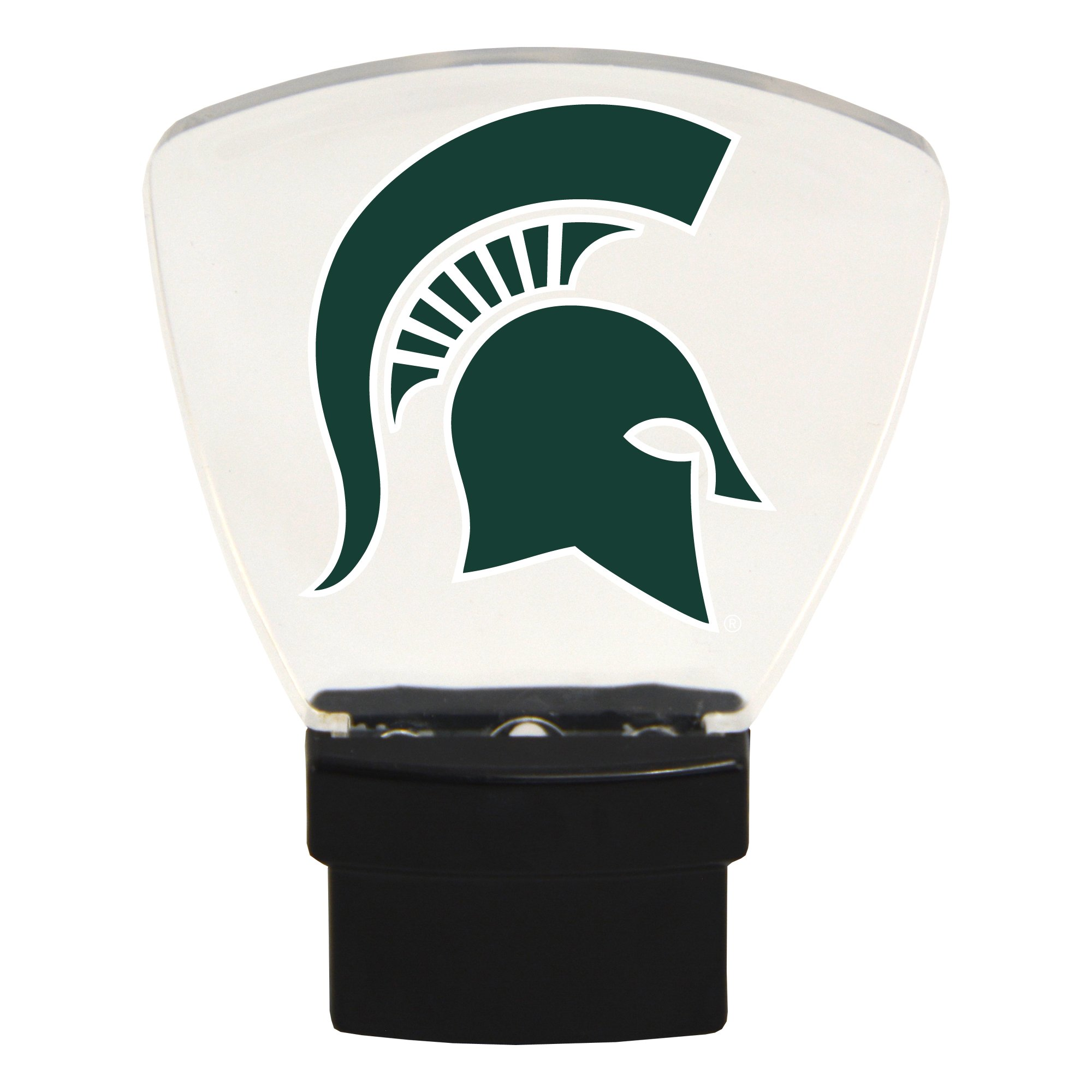 Authentic Street Signs NCAA Officially Licensed-LED NIGHT LIGHT-Super Energy Efficient-Prime Power Saving 0.5 watt, Plug In-Great Sports Fan gift for Adults-Babies-Kids Room (Michigan State Spartans)