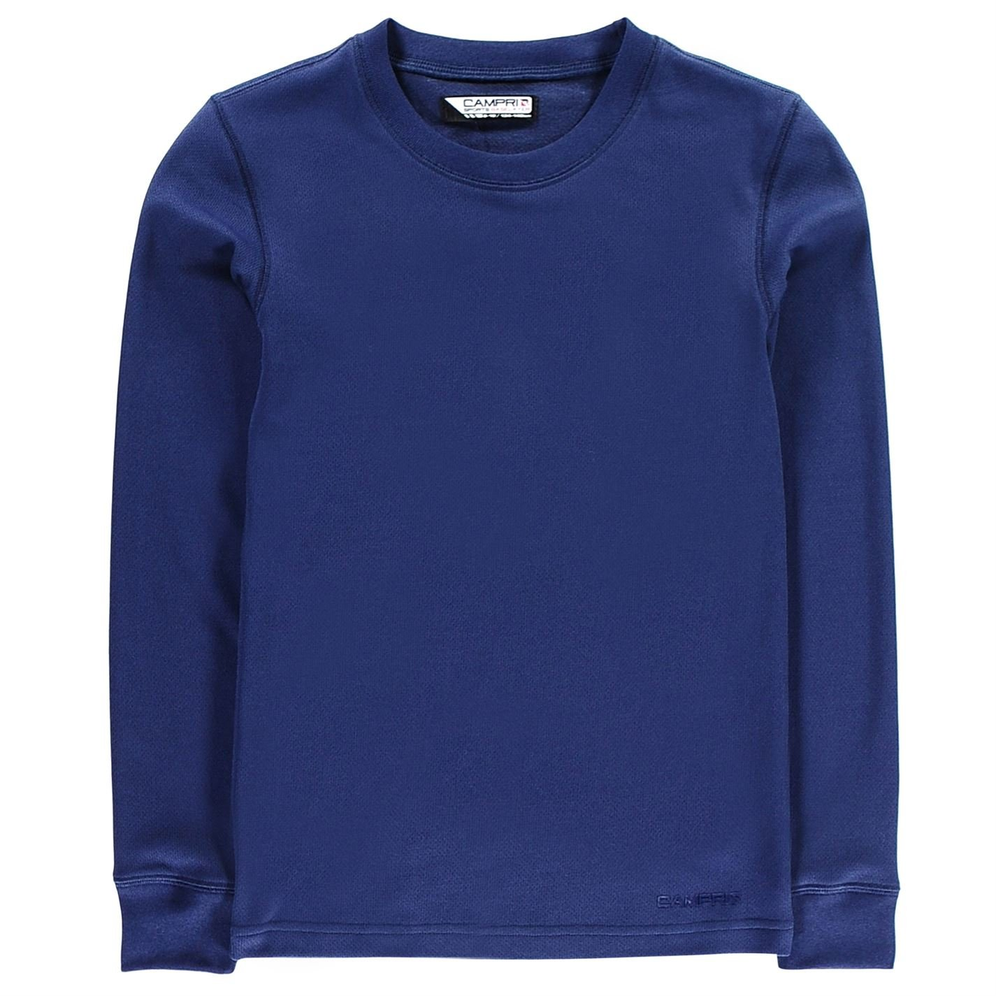 Campri Kids Thermal Baselayer Top Unisex Junior Breathable Ribbed Crew Neck