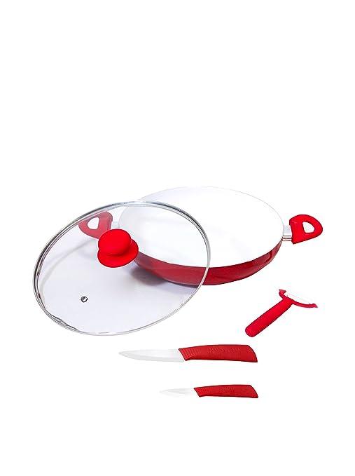Compra Valira Paellera 28 cm + Tapa + Cuchillos 7, 5 cm + ...