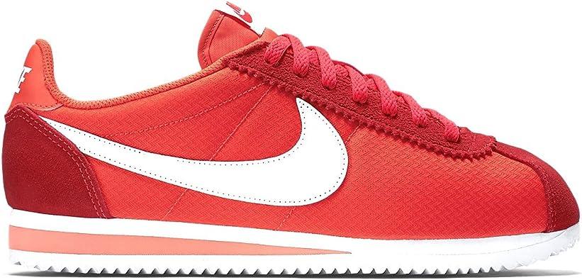 pulcro disponible buena venta Nike Wmns Classic Cortez Nylon, Zapatillas de Deporte para Mujer, Rojo  (Bright Crimson/White), 43/44 EU: Amazon.es: Zapatos y complementos