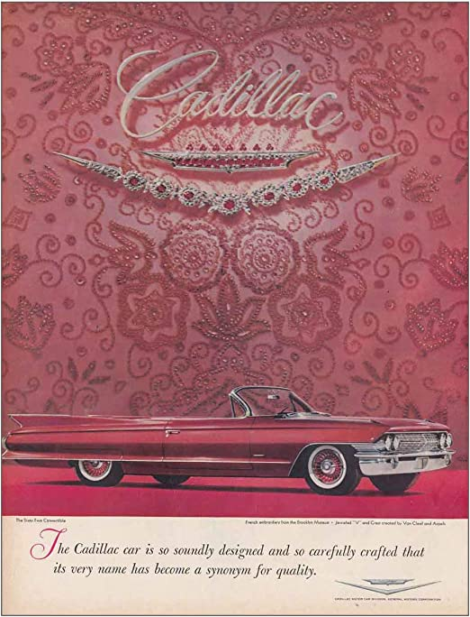 Amazon Com Relicpaper 1961 Cadillac Soundly Designed And So Carefully Crafted Cadillac Print Ad Posters Prints