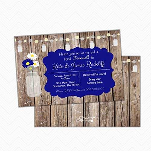 amazon com rustic wood mason farewell party invitations envelopes