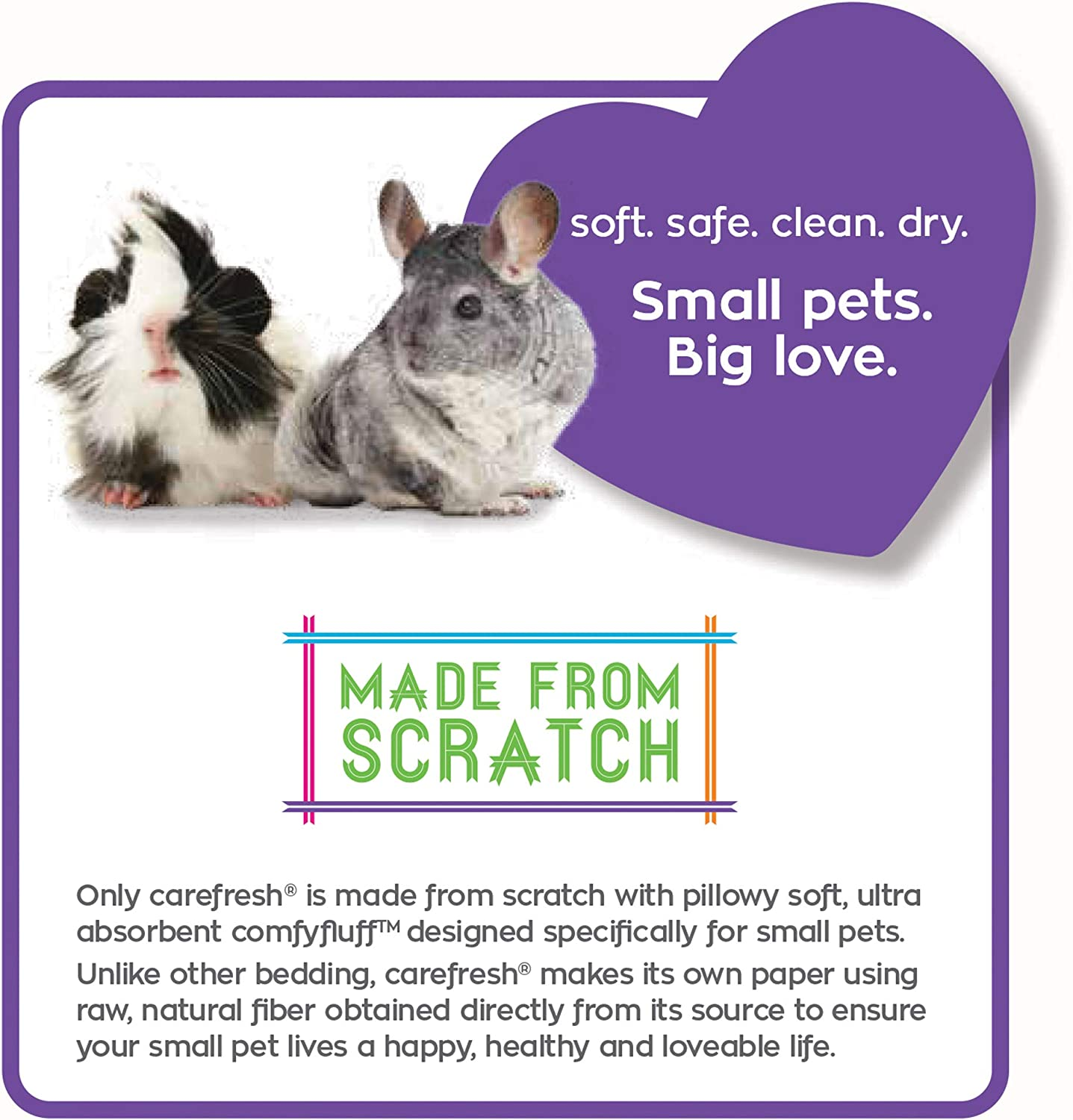 23L carefresh Playful Purple Colorful Creations Small pet Bedding
