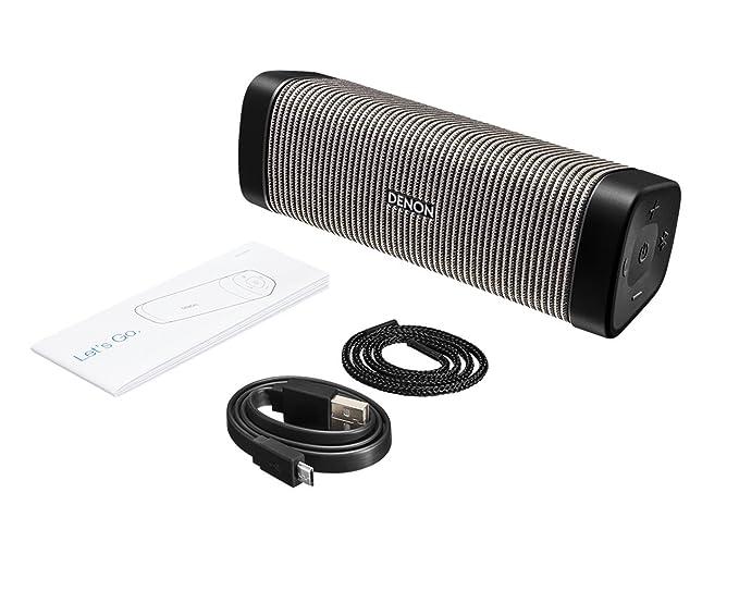Denon DSB-250BT Negro, Gris - Altavoces portátiles (4 cm, Inalámbrico, Bluetooth/3.5 mm, A2DP,AVRCP,HFP,HSP, 30 m, Negro, Gris): Amazon.es: Electrónica