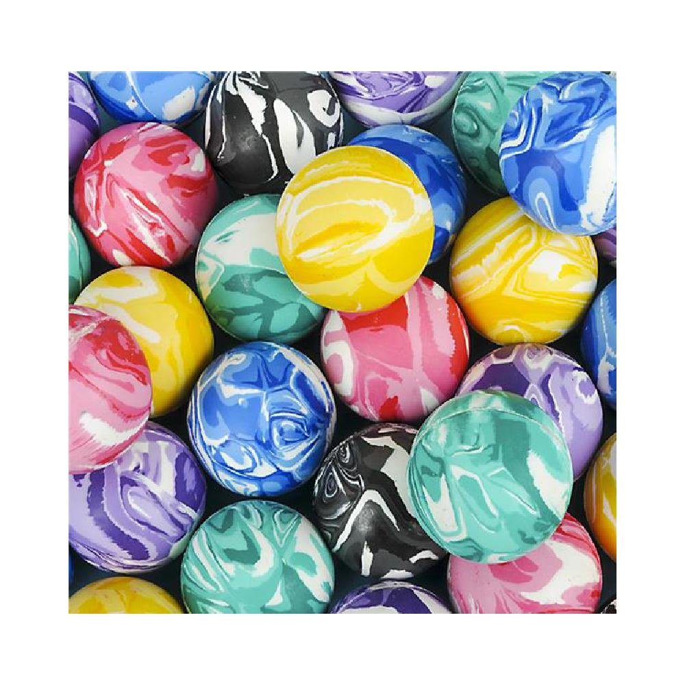 2''(47M) Two Color Marble Hi Bounce Balls (With Sticky Notes)